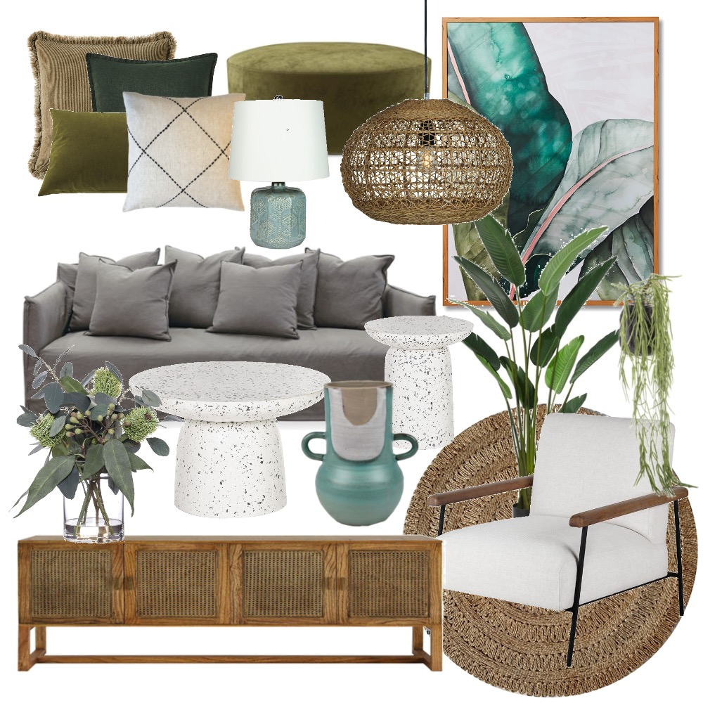 natural oasis inspiration - T Bush Interior Design Mood Board by Flawless Interiors Melbourne on Style Sourcebook