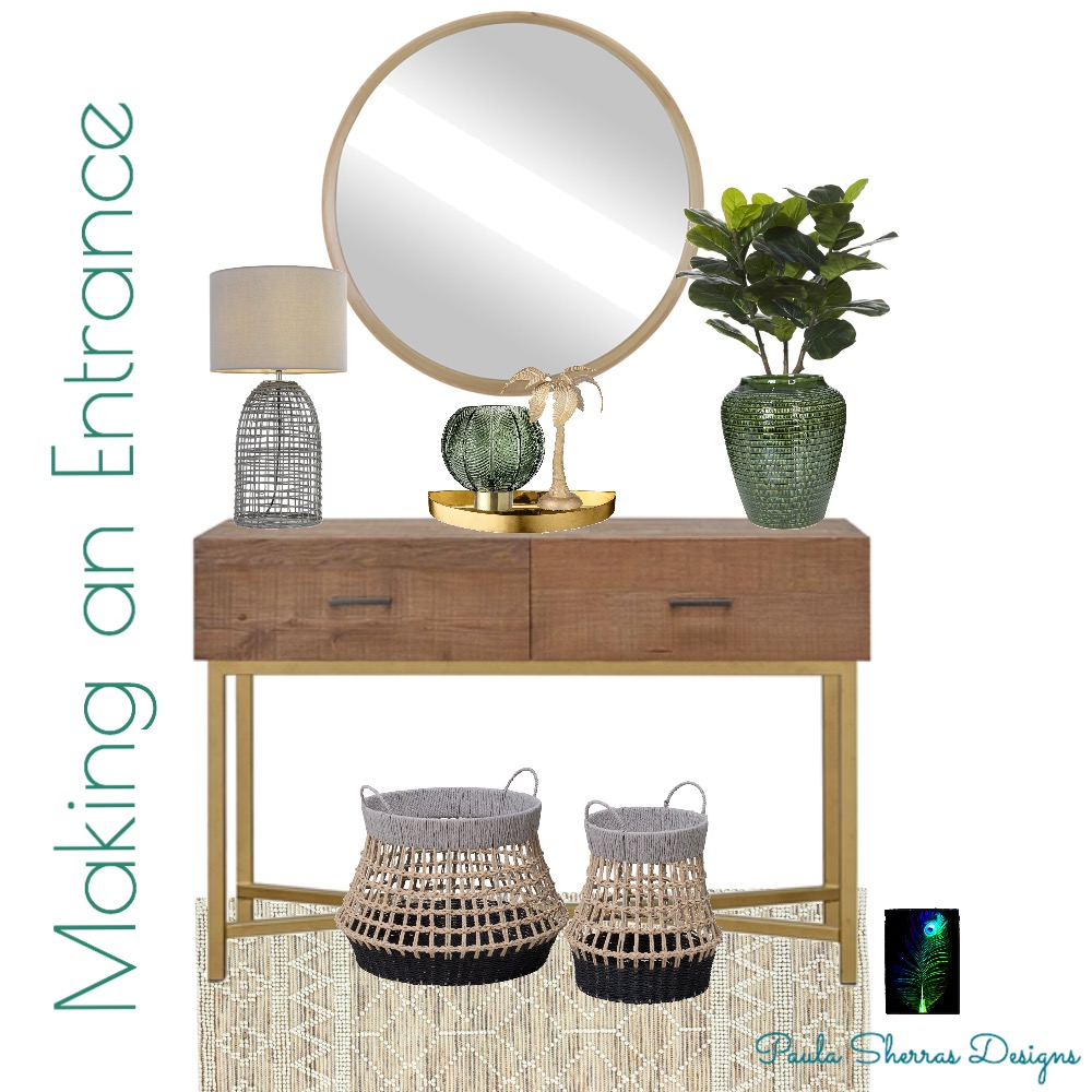 Making an Entrance Interior Design Mood Board by Paula Sherras Designs on Style Sourcebook
