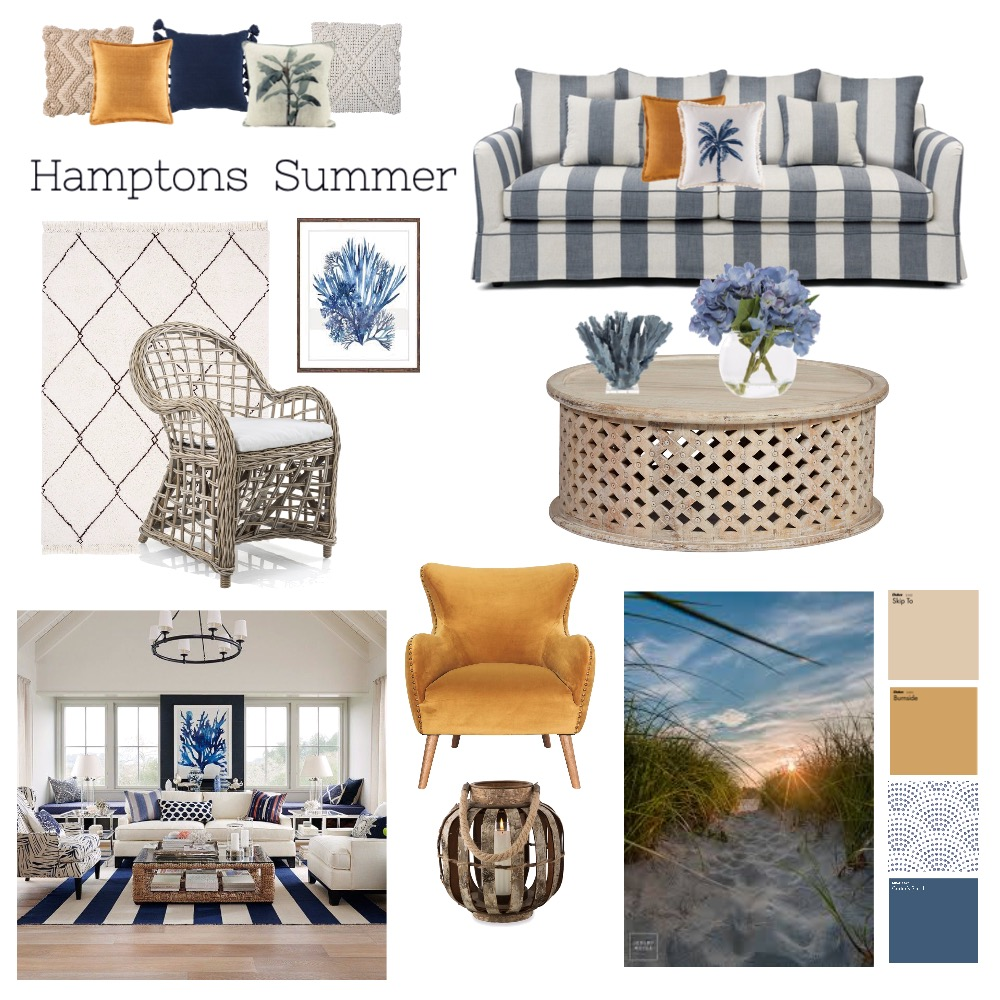 Hamptons - Living by the Sea Interior Design Mood Board by Swanella on Style Sourcebook