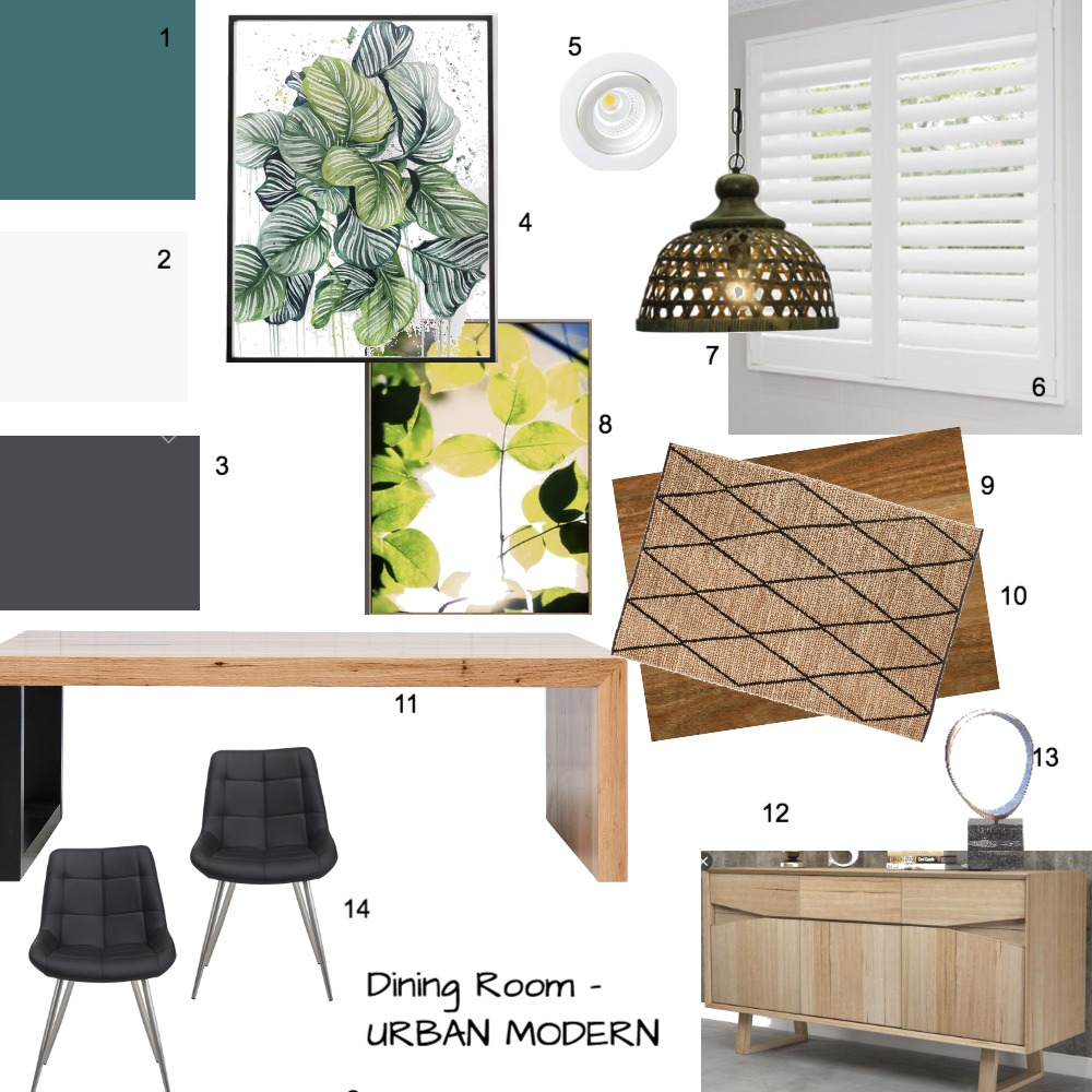 Dining Room Interior Design Mood Board by Zaileen on Style Sourcebook