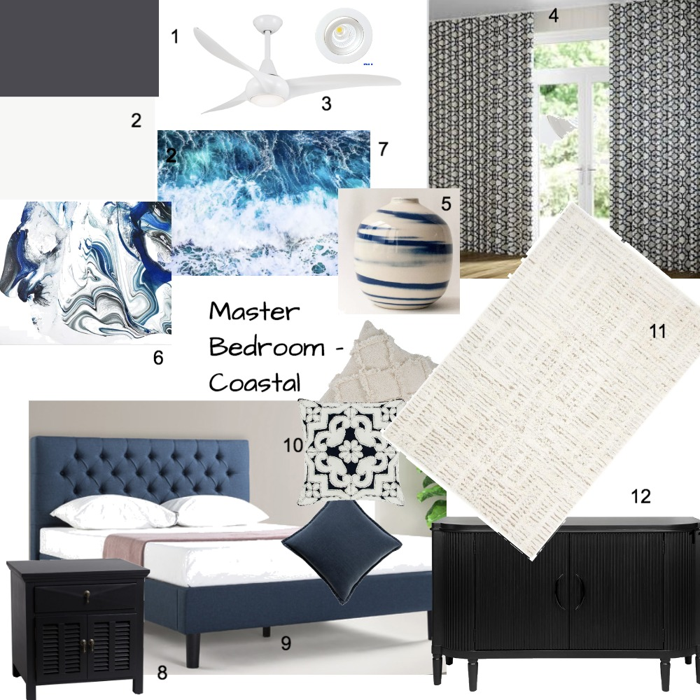 Master Bedroom Interior Design Mood Board by Zaileen on Style Sourcebook