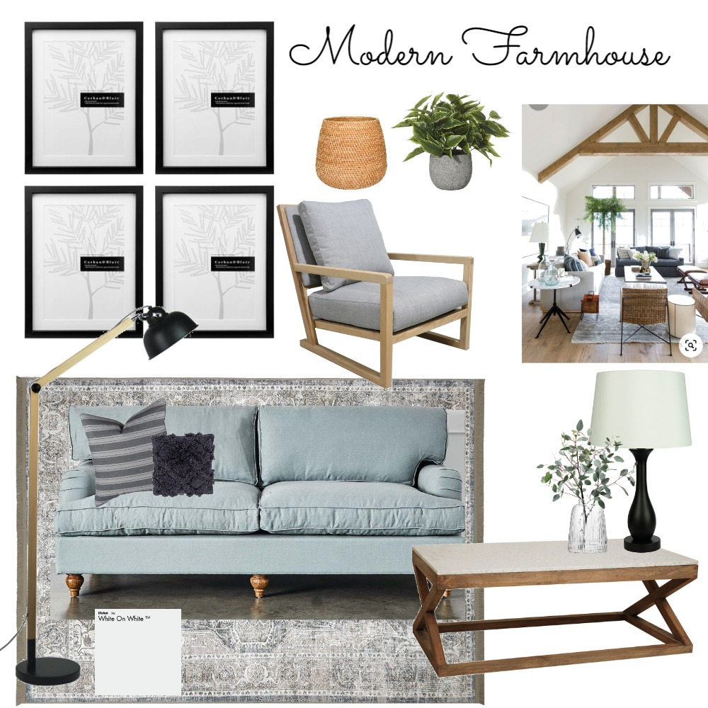 Modern Farmhouse Interior Design Mood Board by aemillskalkee@gmail.com on Style Sourcebook