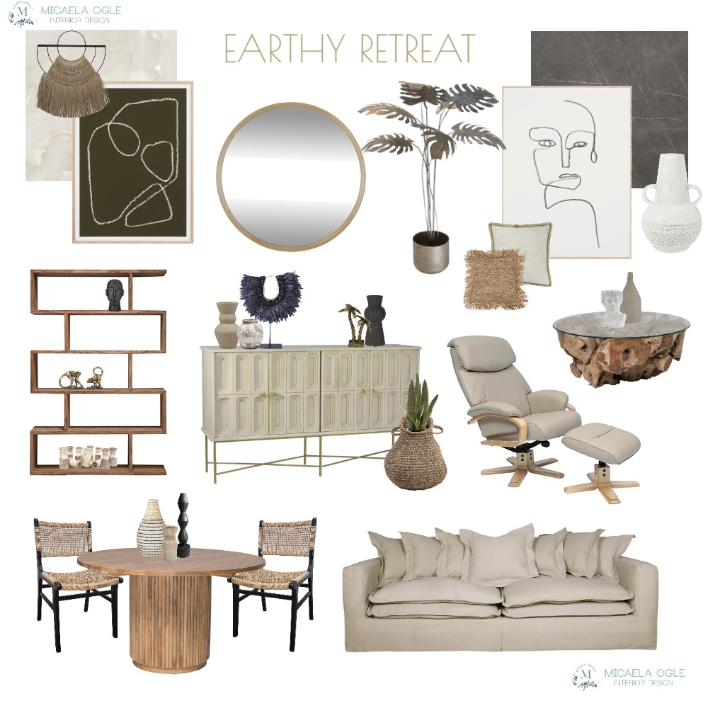 EARTHY RETREAT Interior Design Mood Board by Modern Insight Interiors on Style Sourcebook