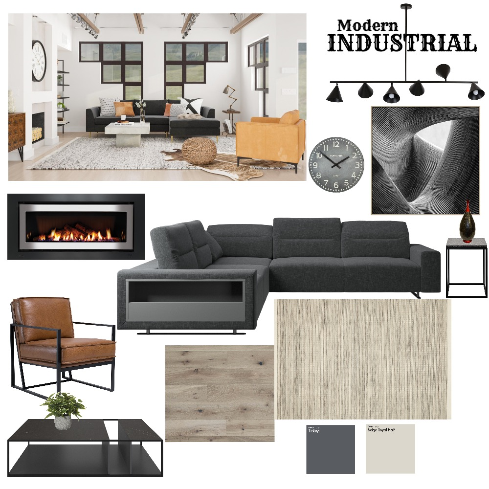 Modern Industrial Interior Design Mood Board by Sue_Hunt on Style Sourcebook