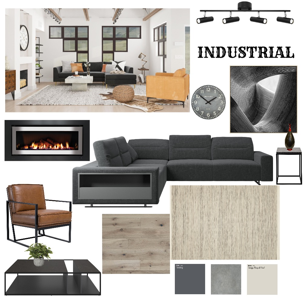 Industrial Interior Design Mood Board by Sue_Hunt on Style Sourcebook
