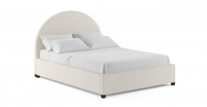 Arch Queen Gaslift Bed Frame Classic Cream Classic Cream by Brosa, a Beds & Bed Frames for sale on Style Sourcebook