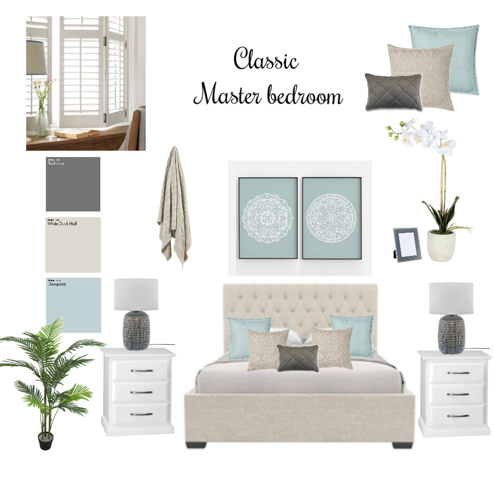 Classic Master bedroom Interior Design Mood Board by tahirih on Style Sourcebook