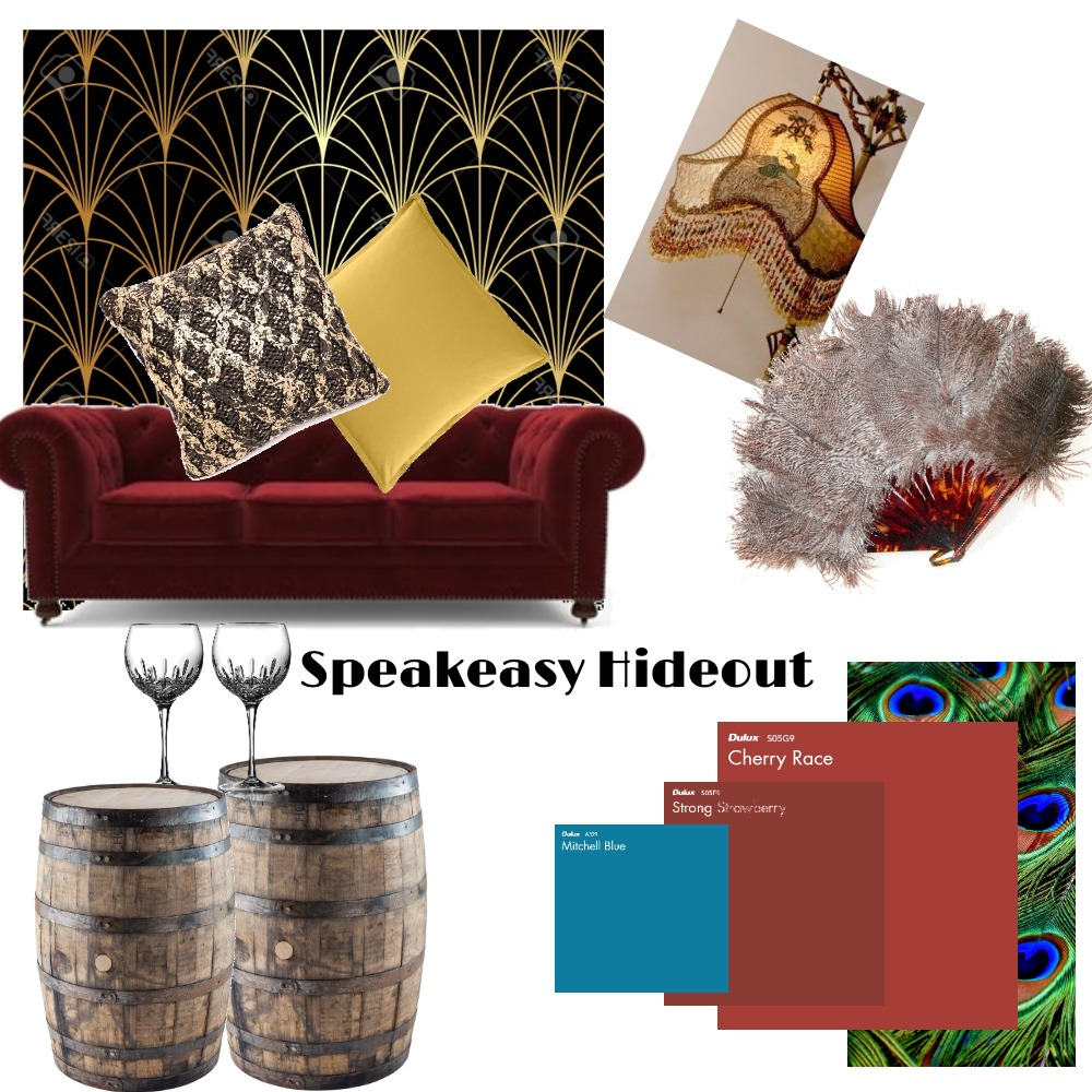 Speakeasy Hideout Interior Design Mood Board by PamFlores on Style Sourcebook