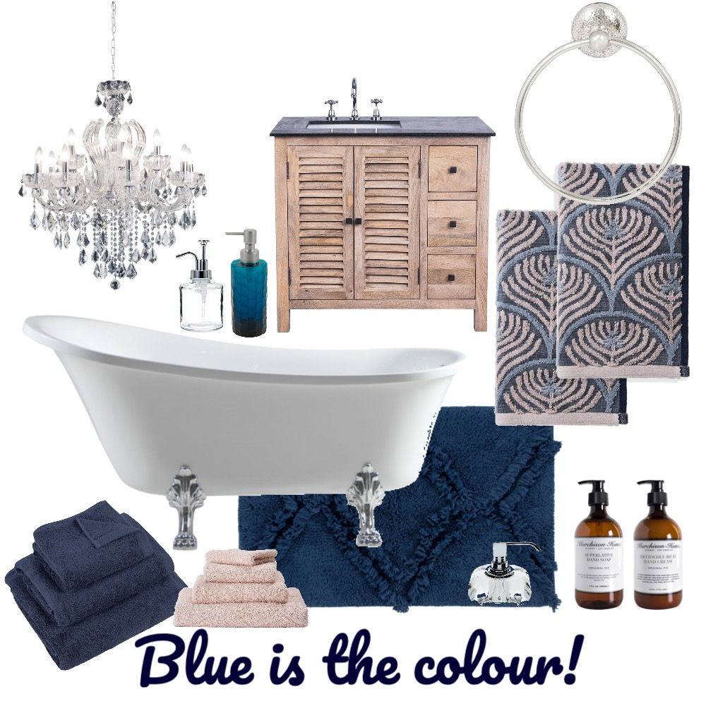 Blue is the colour Interior Design Mood Board by Louise Kenrick on Style Sourcebook