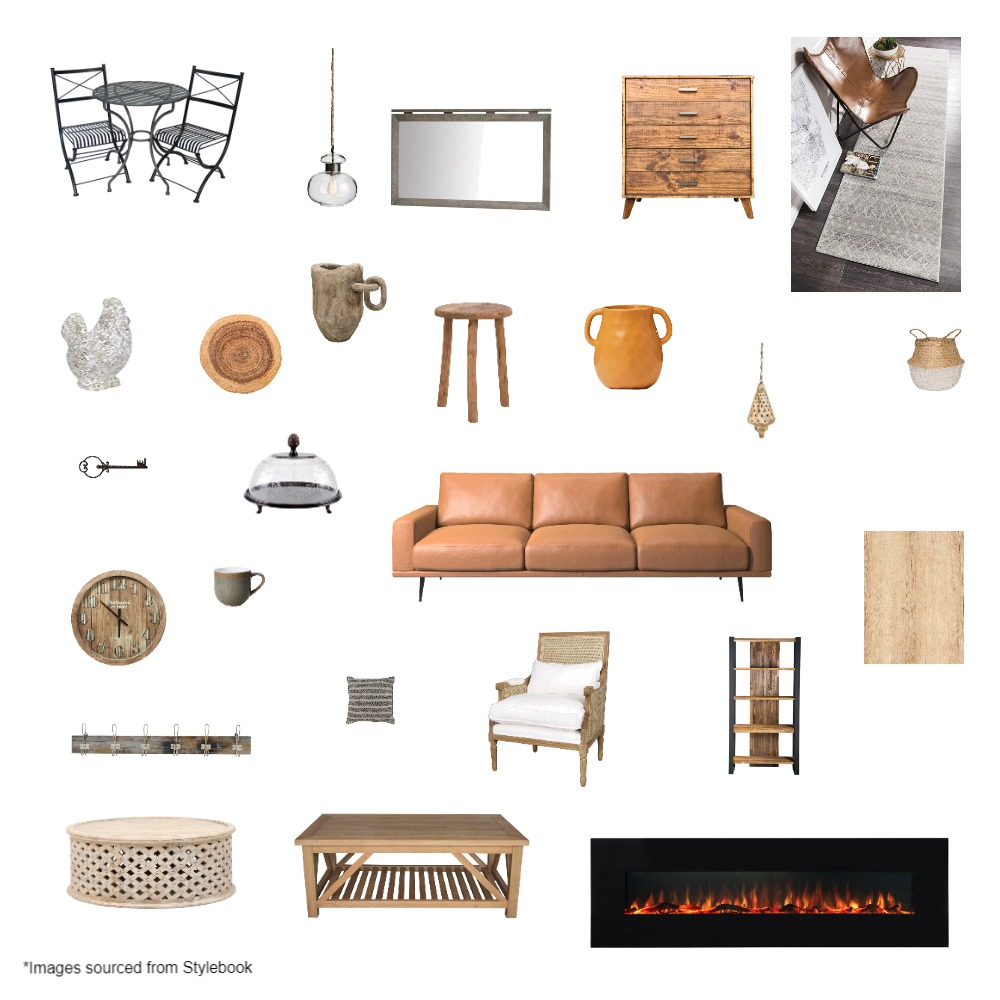 Rustic mood board Interior Design Mood Board by maddiebrown on Style Sourcebook