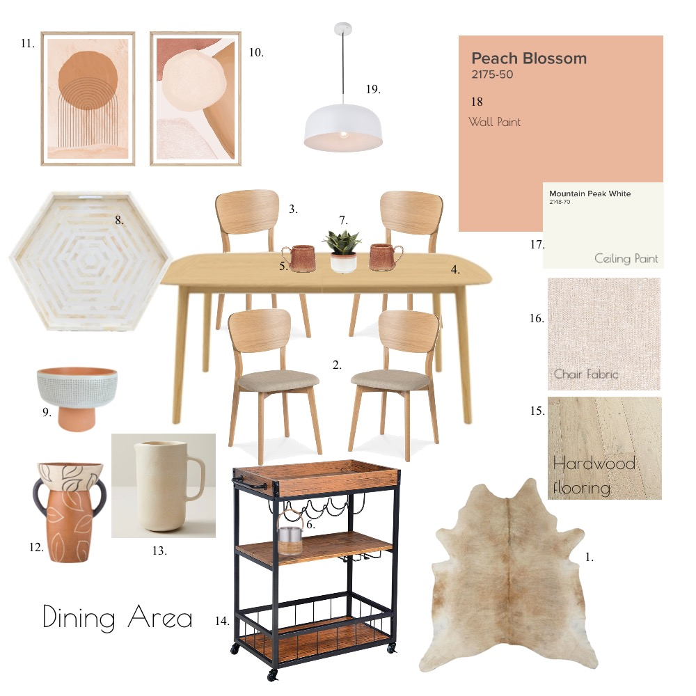 Dining Area Interior Design Mood Board by GinelleChavez on Style Sourcebook
