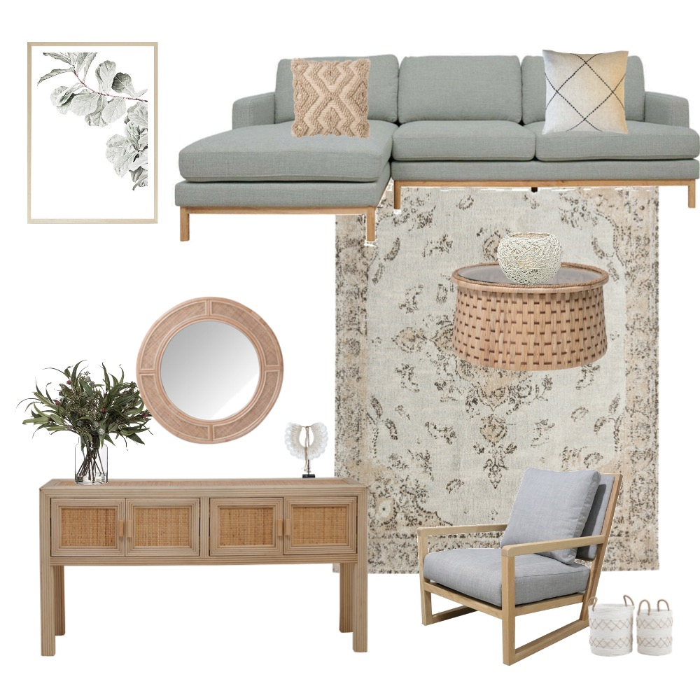Rattan decor living room Interior Design Mood Board by Dib.styling on Style Sourcebook