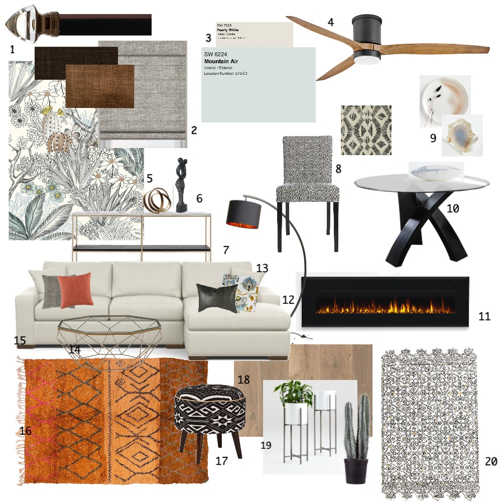 Tribal Desert Living & Dining Interior Design Mood Board by lauramarindesign on Style Sourcebook