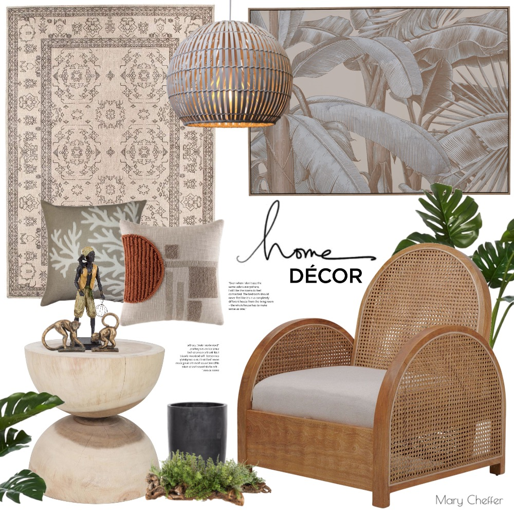 Natural Wicker, Rattan, & Wood Interior Design Mood Board by mcheffer on Style Sourcebook