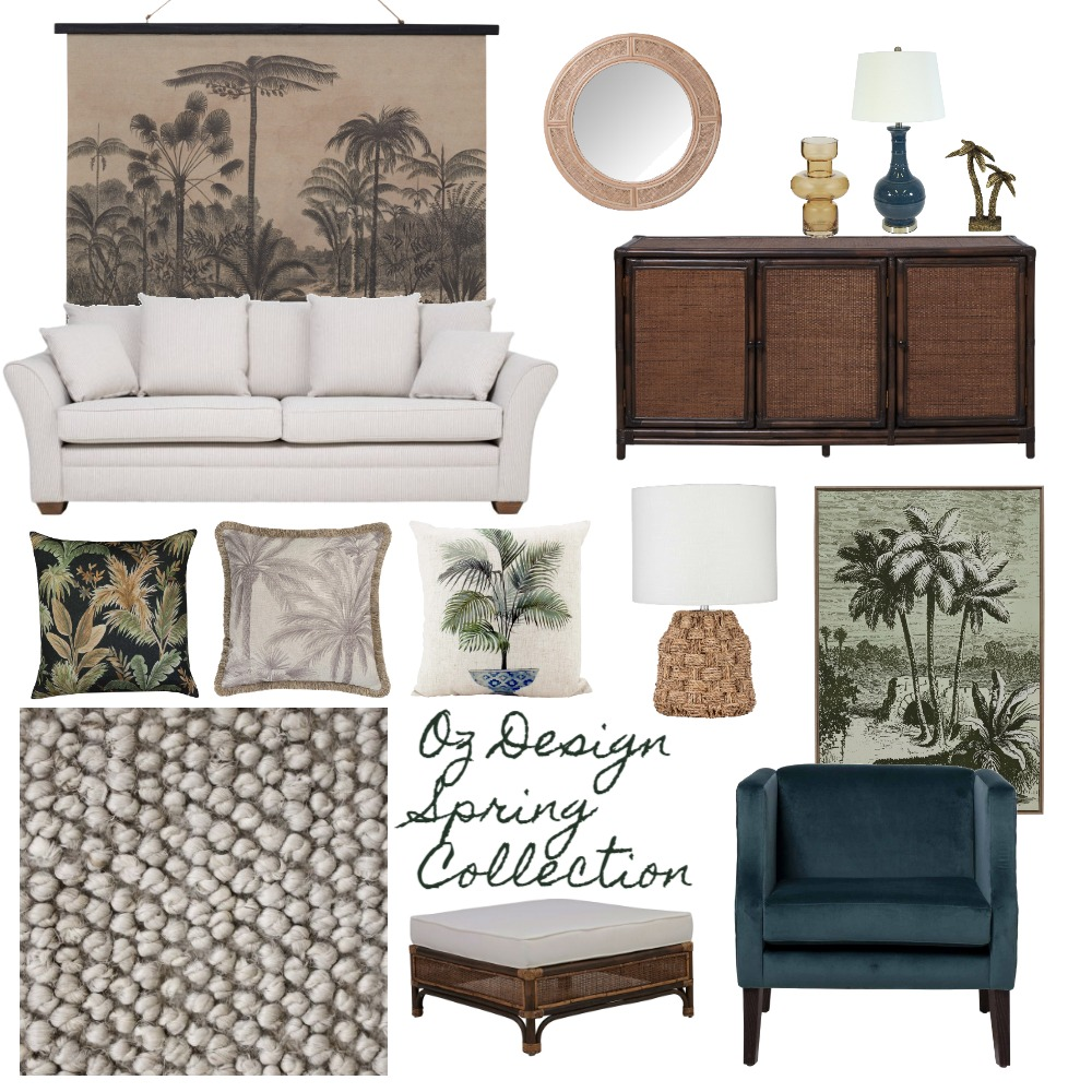 Oz Design Plantation Dark Brown Interior Design Mood Board by interiorology on Style Sourcebook