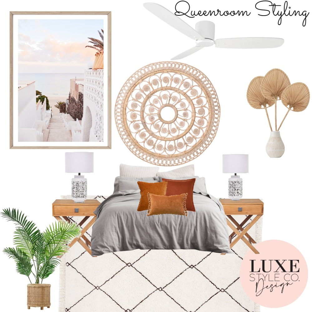 Beachhouse Queenroom2 Interior Design Mood Board by Luxe Style Co. on Style Sourcebook