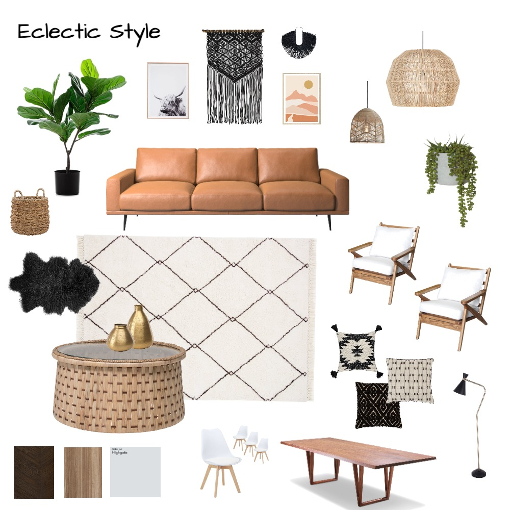 Eclectic Mood Board #1 Interior Design Mood Board by Moon Gemello on Style Sourcebook