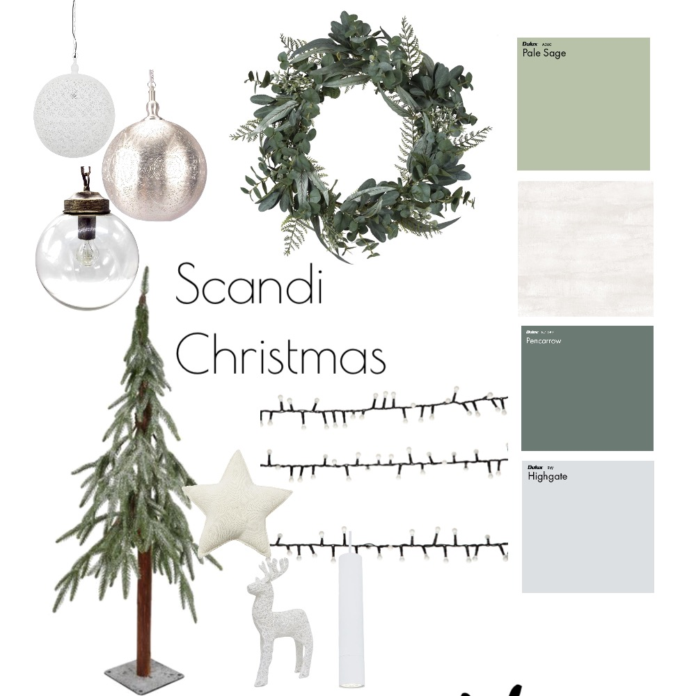 Scandi Xmas Interior Design Mood Board by Jessicaloielo on Style Sourcebook