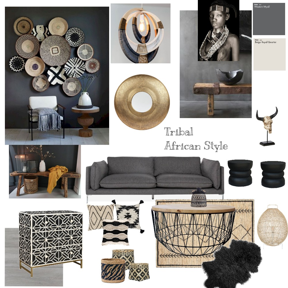 African Interior Design Mood Board by Elena A on Style Sourcebook