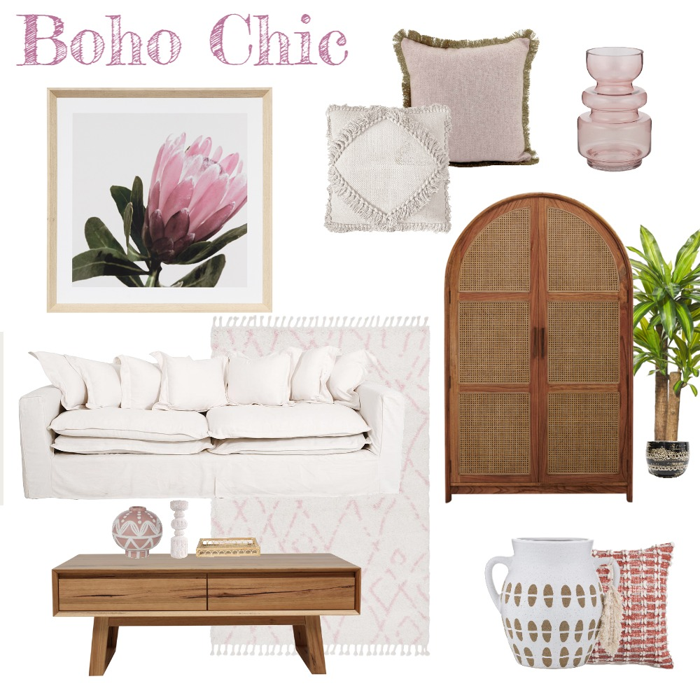 Boho Chic Interior Design Mood Board by Celebrated Style on Style Sourcebook
