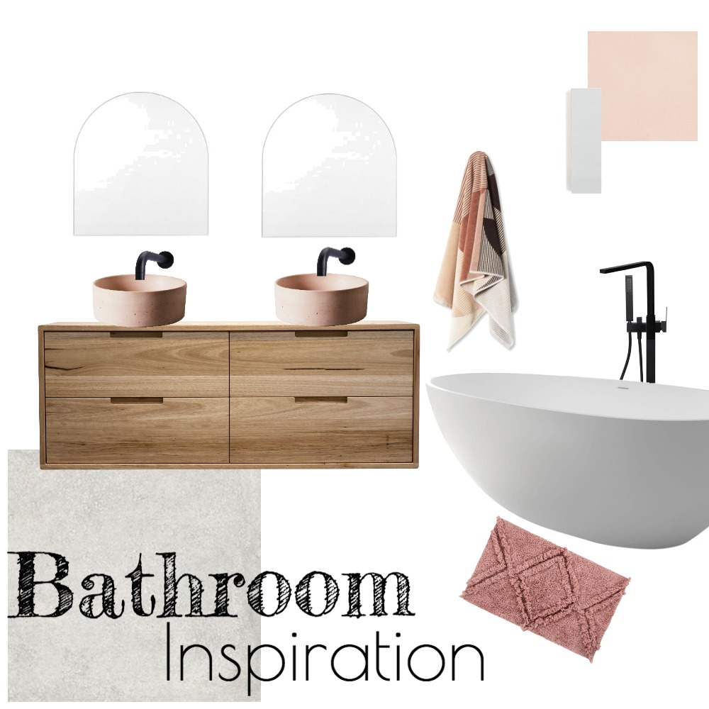 Bathroom Inspiration - Pink Interior Design Mood Board by tahliasnellinteriors on Style Sourcebook