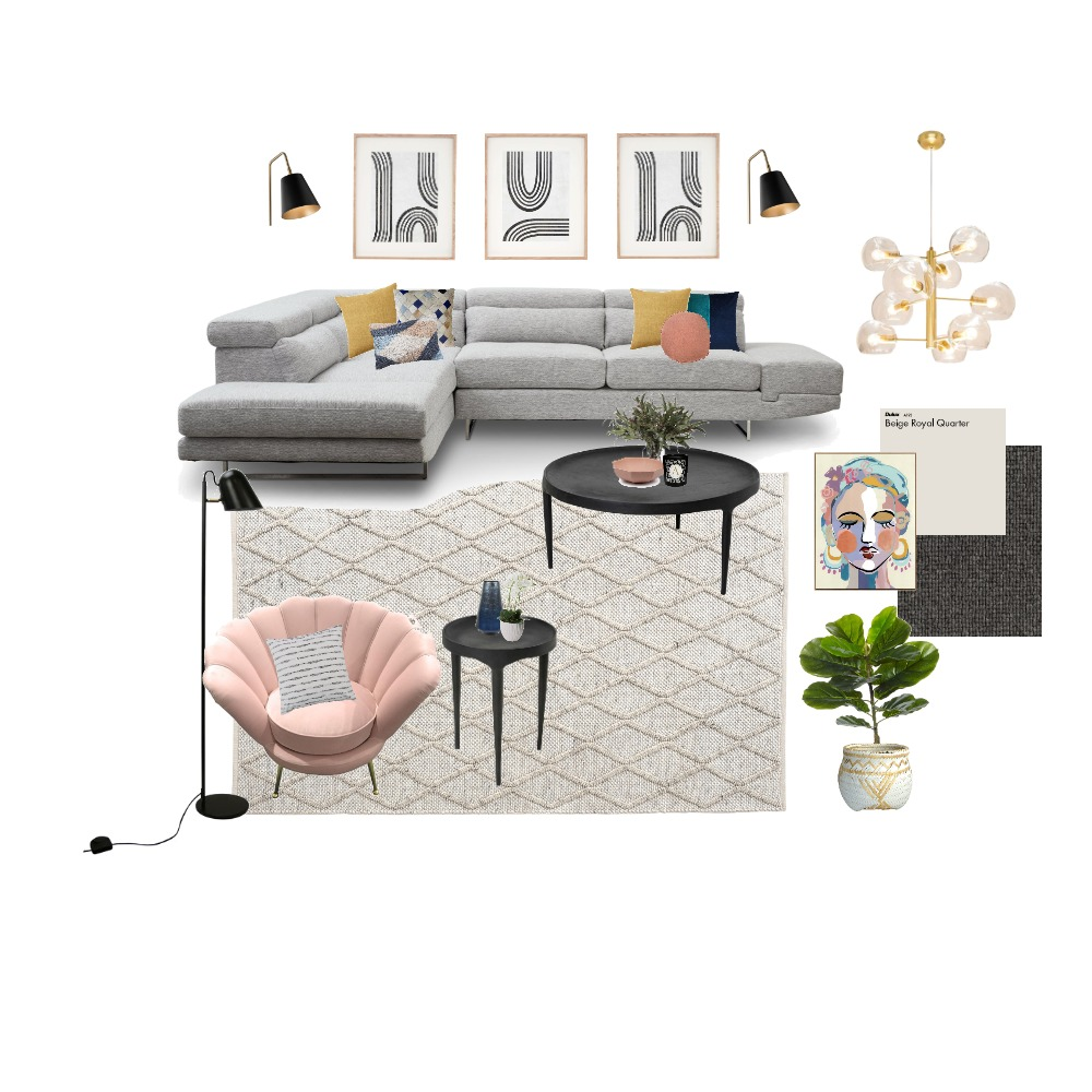 Modern Living Room Interior Design Mood Board by jomais on Style Sourcebook