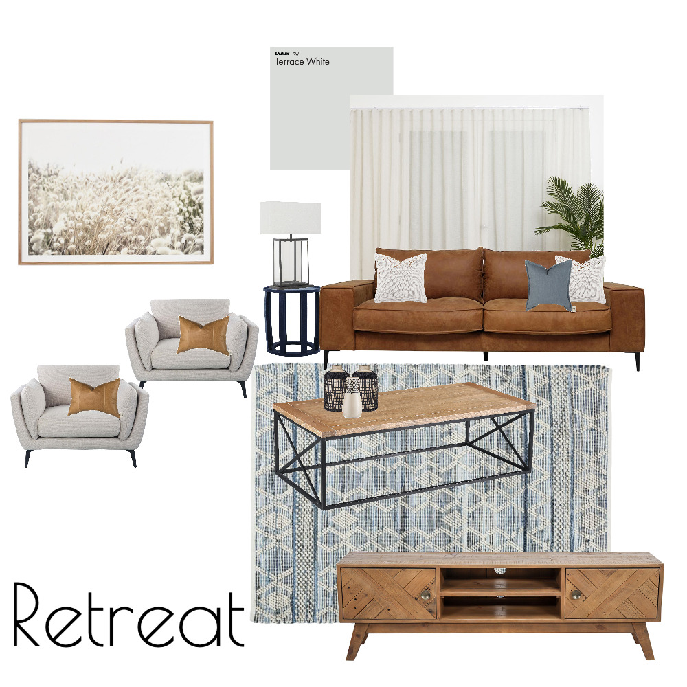 Retreat, Option 2 Interior Design Mood Board by aireyinteriors on Style Sourcebook