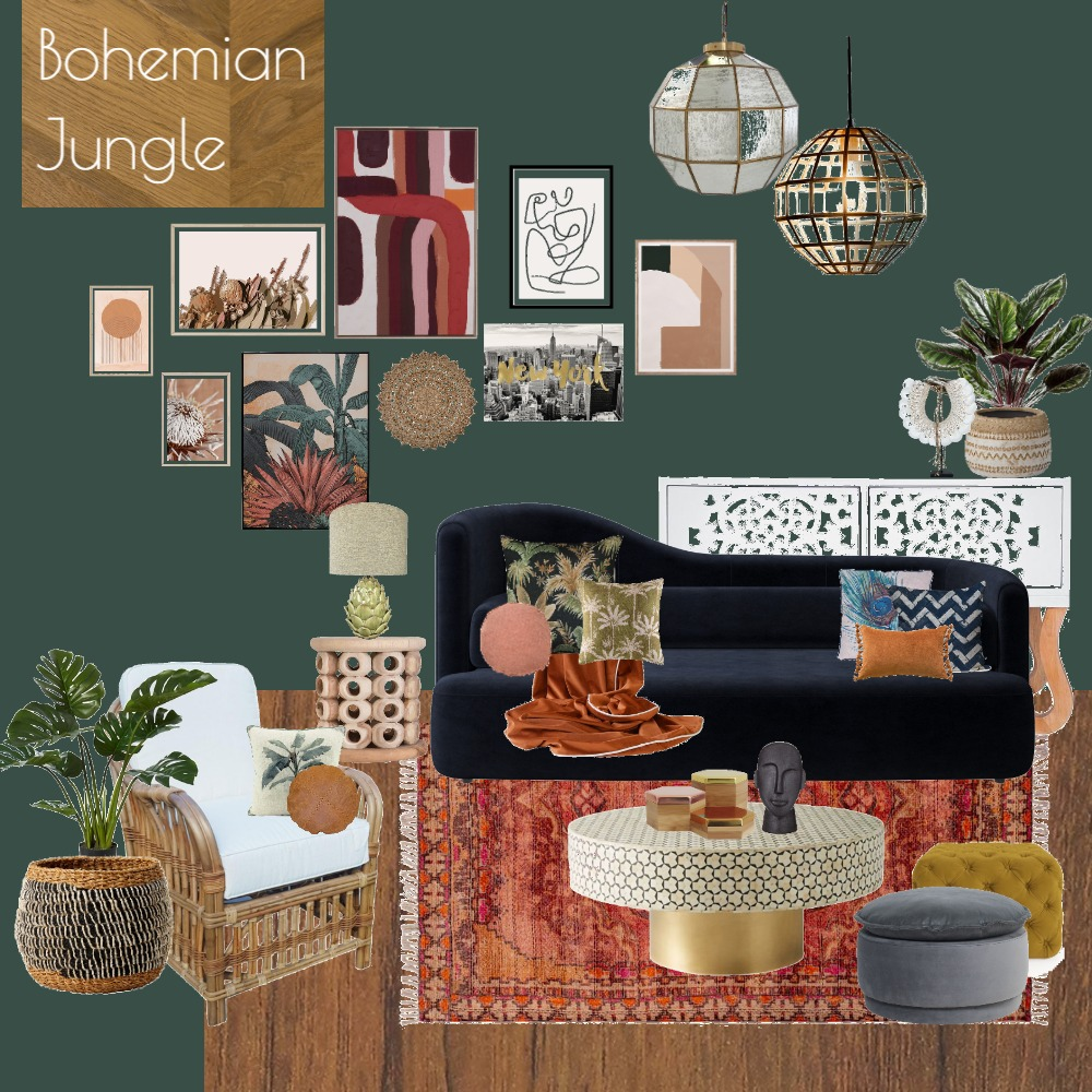 BOHEMIAN JUNGLE Interior Design Mood Board by homestylingbymel on Style Sourcebook