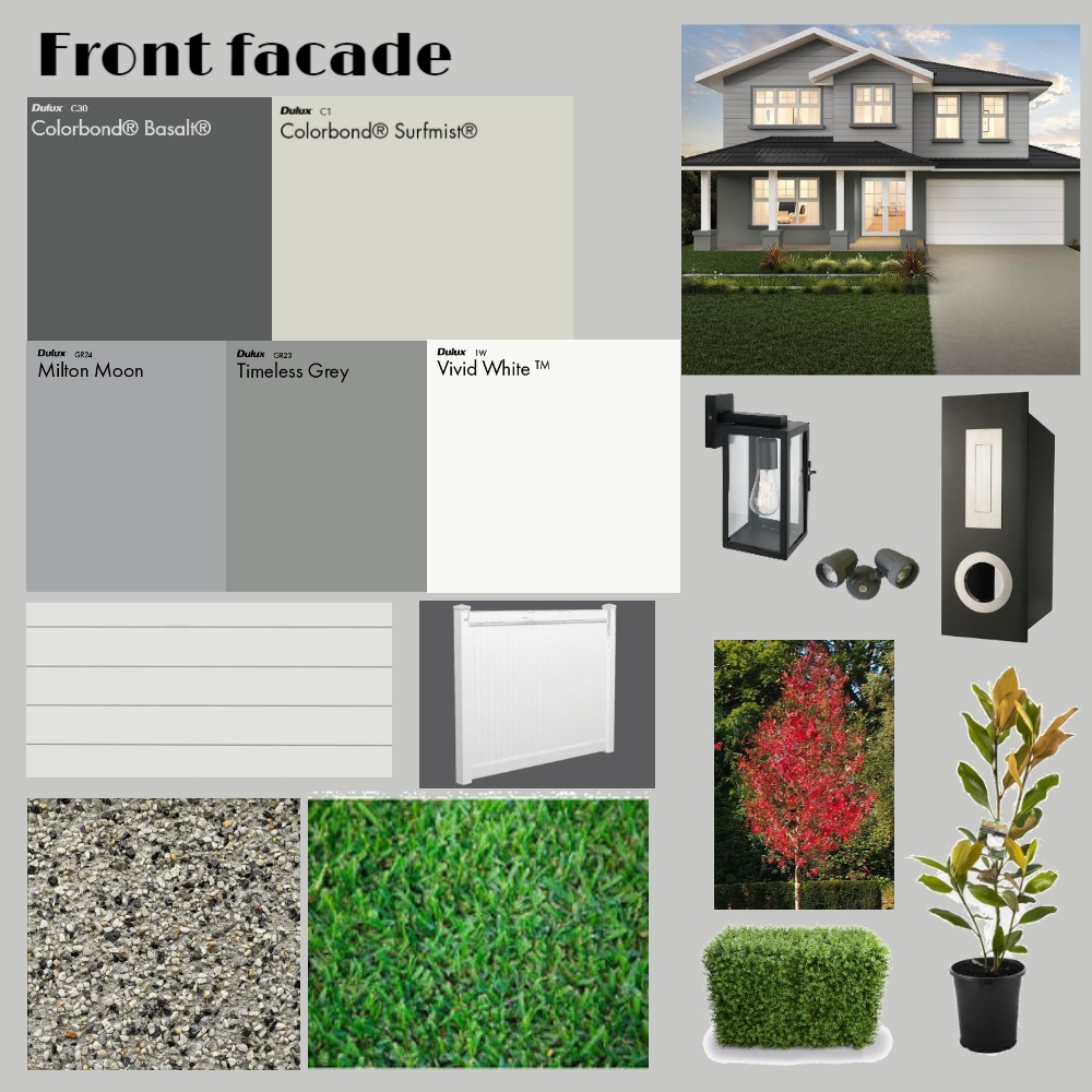 Front facade Interior Design Mood Board by Bargello_Arden_Homes on Style Sourcebook