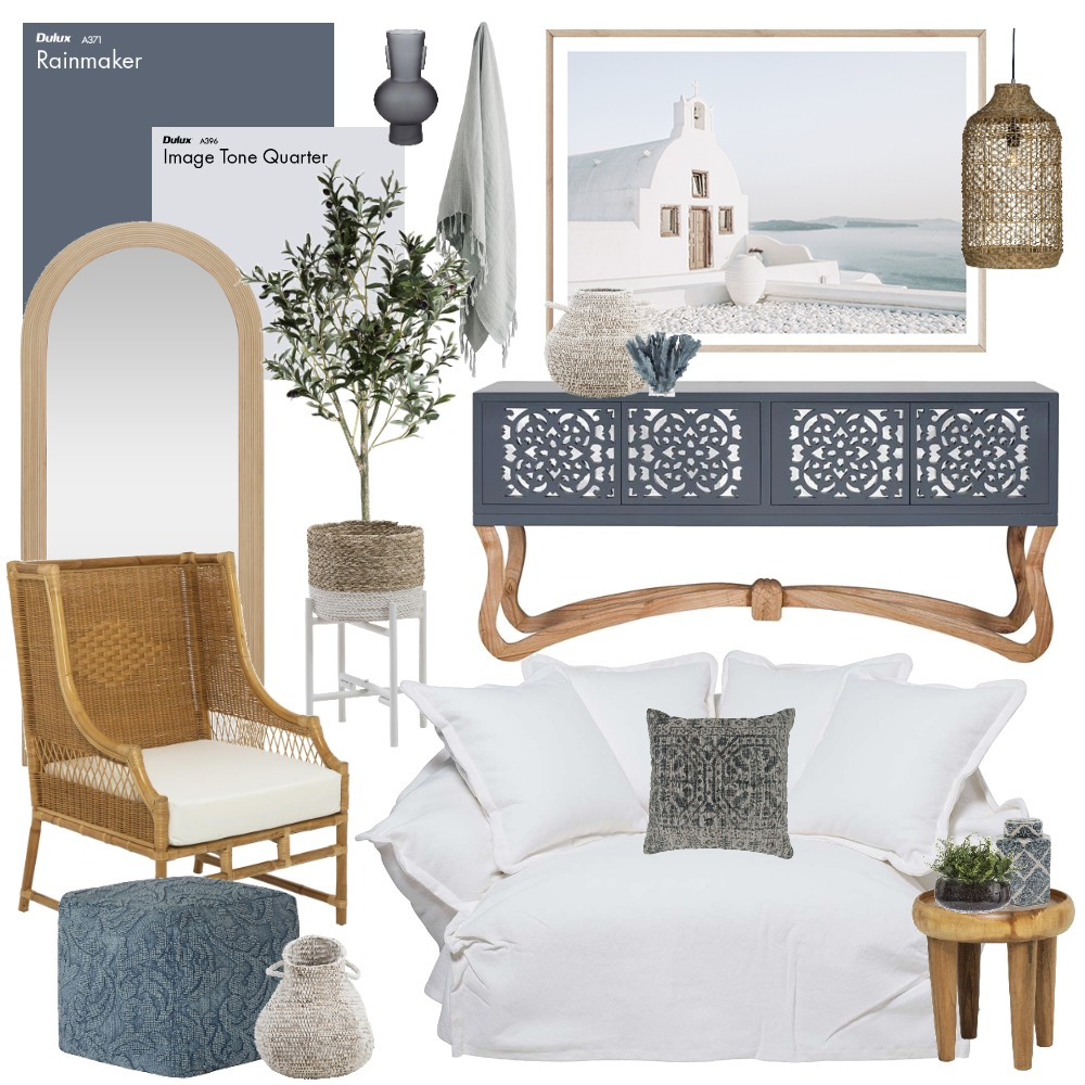 Santorini Interior Design Mood Board by Thediydecorator on Style Sourcebook