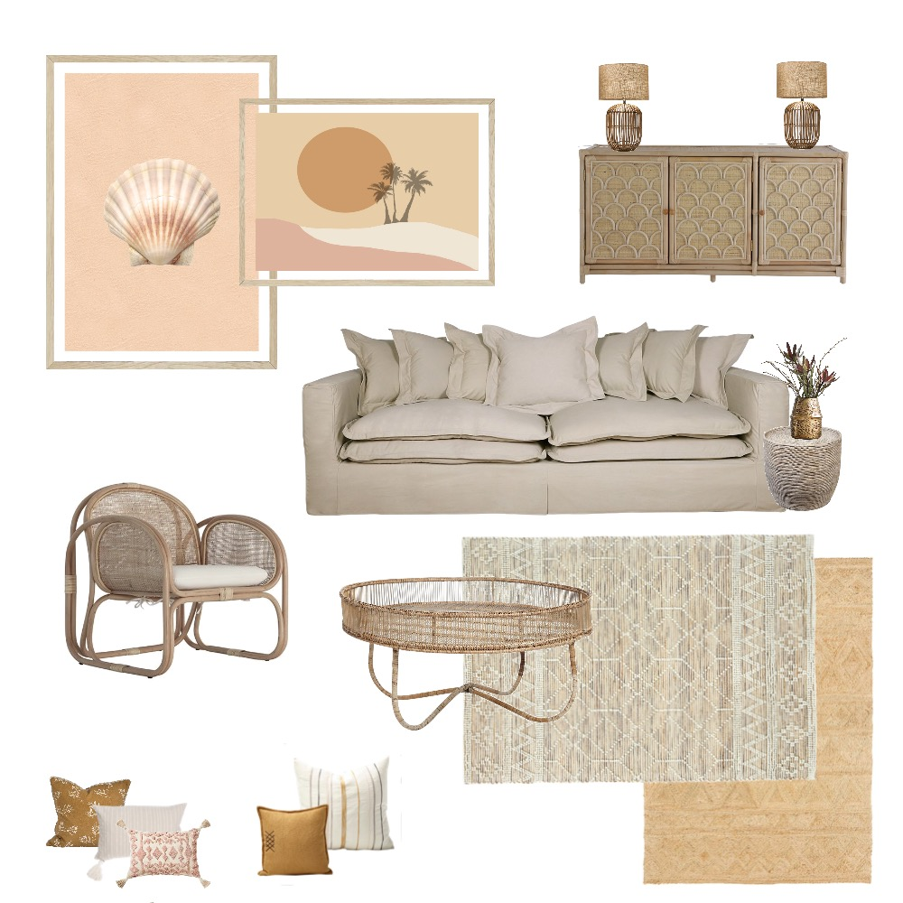 Coastal boho concept Interior Design Mood Board by Simplestyling on Style Sourcebook