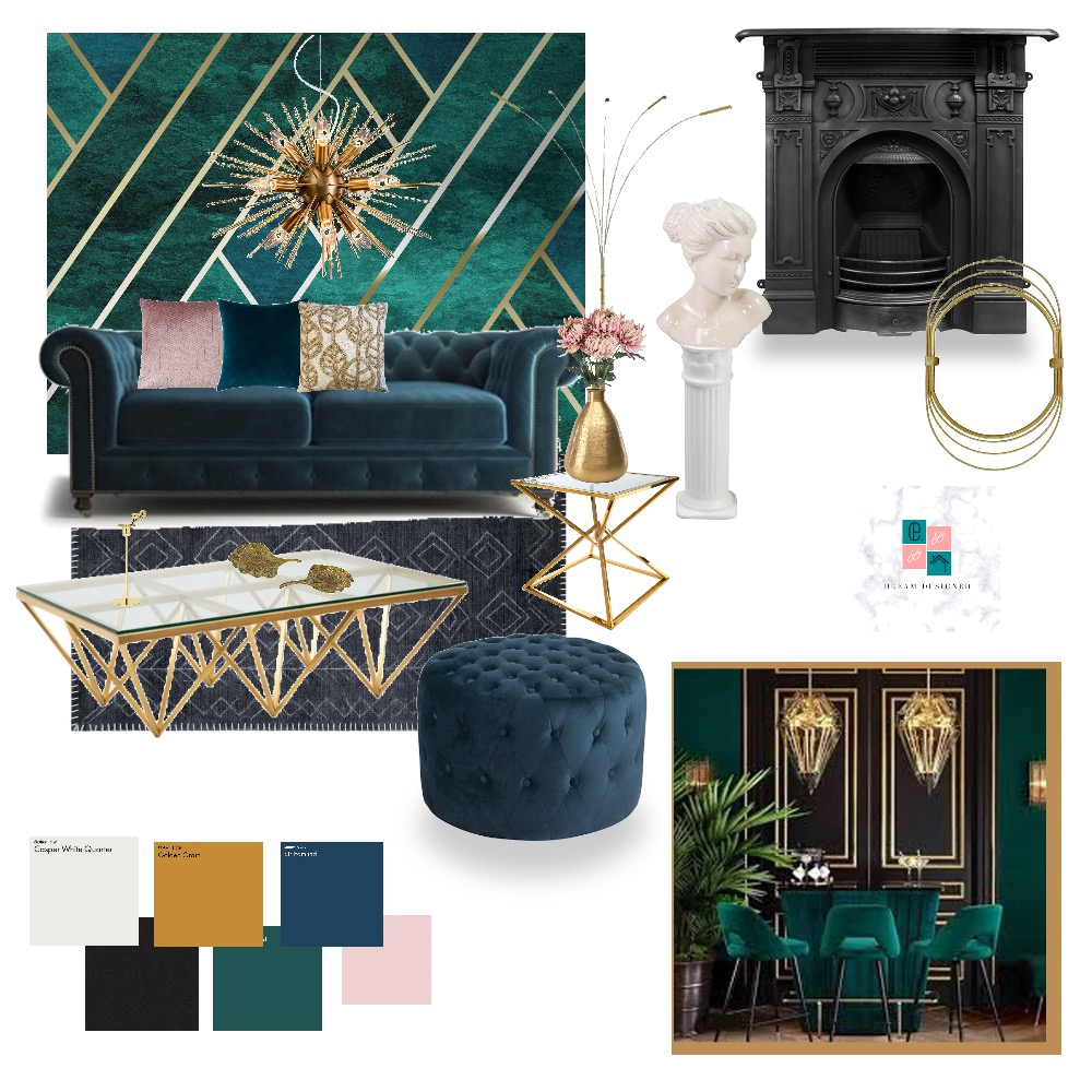Green Mood Interior Design Mood Board by Dream.Designed on Style Sourcebook