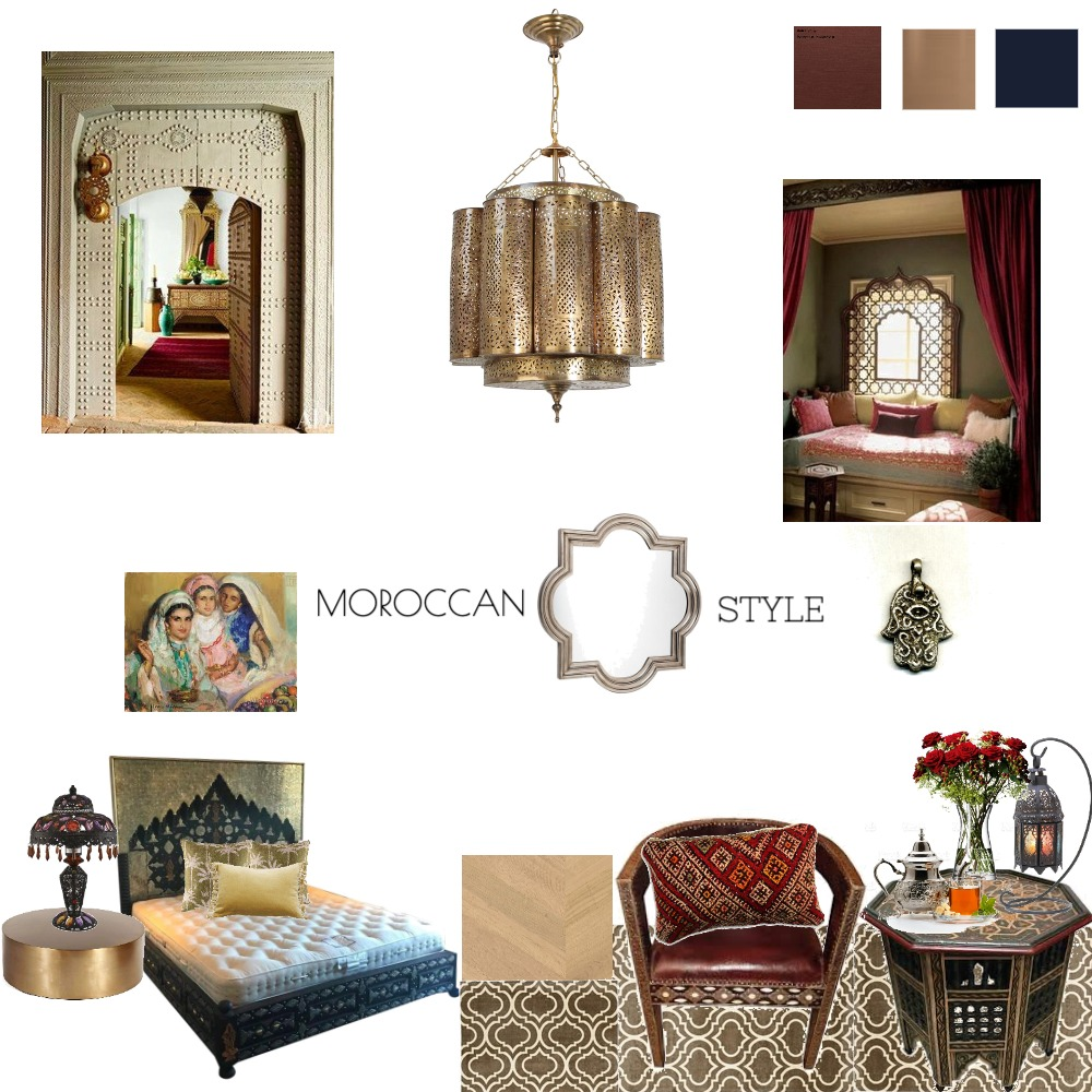moroccan mood board Interior Design Mood Board by shams on Style Sourcebook