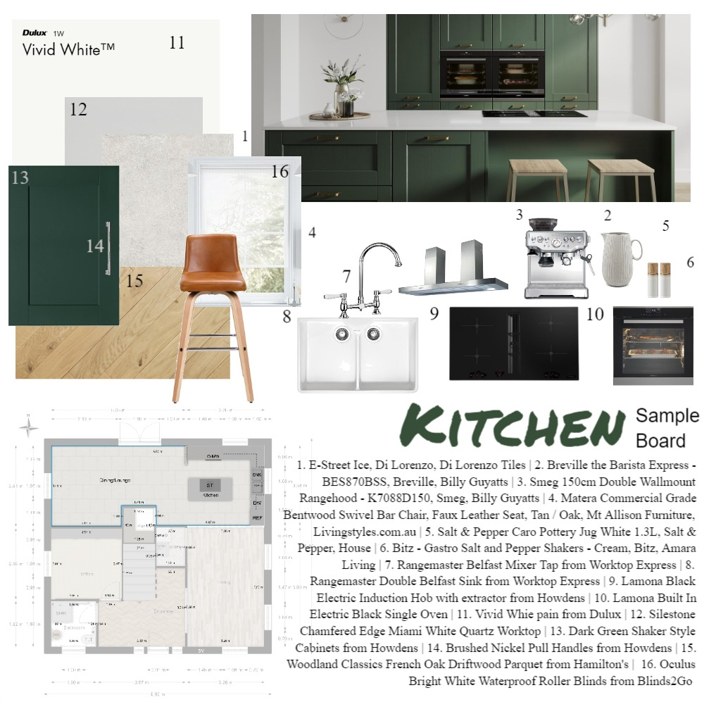 Kitchen Sample Board Interior Design Mood Board by daisy.roberts1 on Style Sourcebook