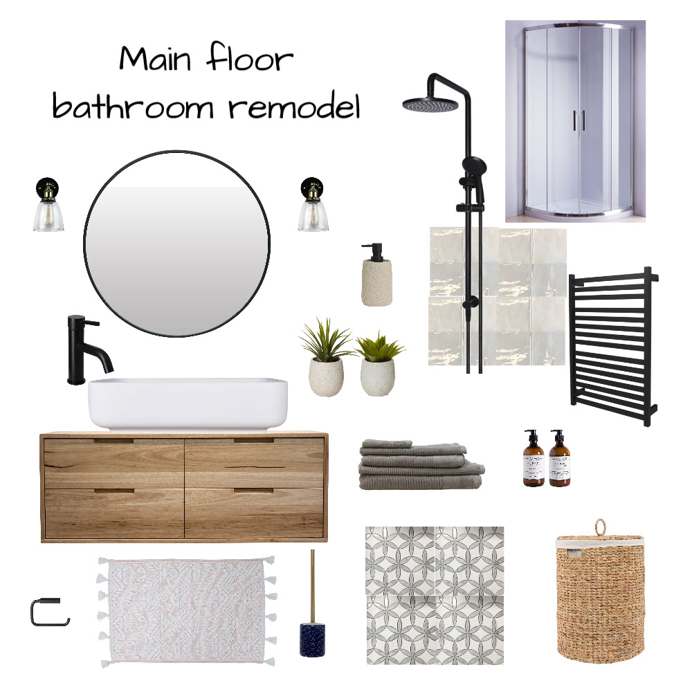 Bathroom remodel mod 9 Interior Design Mood Board by MfWestcoast on Style Sourcebook