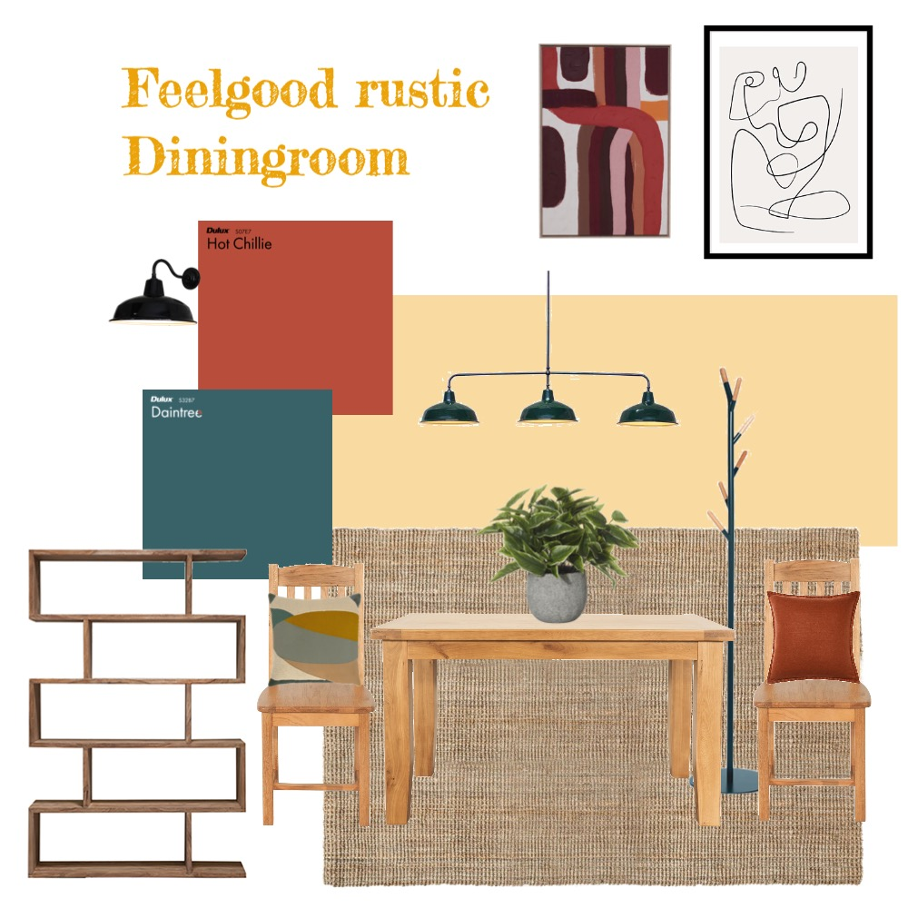 Feelgood rustic Dinningroom Interior Design Mood Board by Marika.dutoit on Style Sourcebook