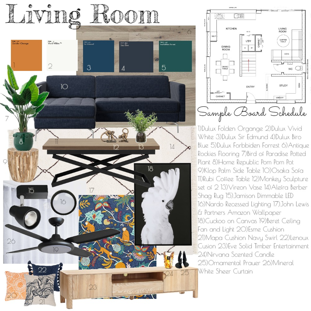 Living Room Interior Design Mood Board by michelle_carla on Style Sourcebook