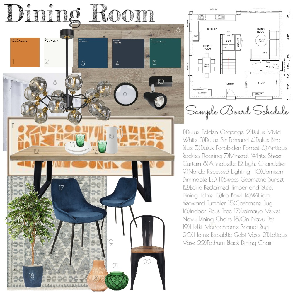 Dining Room Interior Design Mood Board by michelle_carla on Style Sourcebook