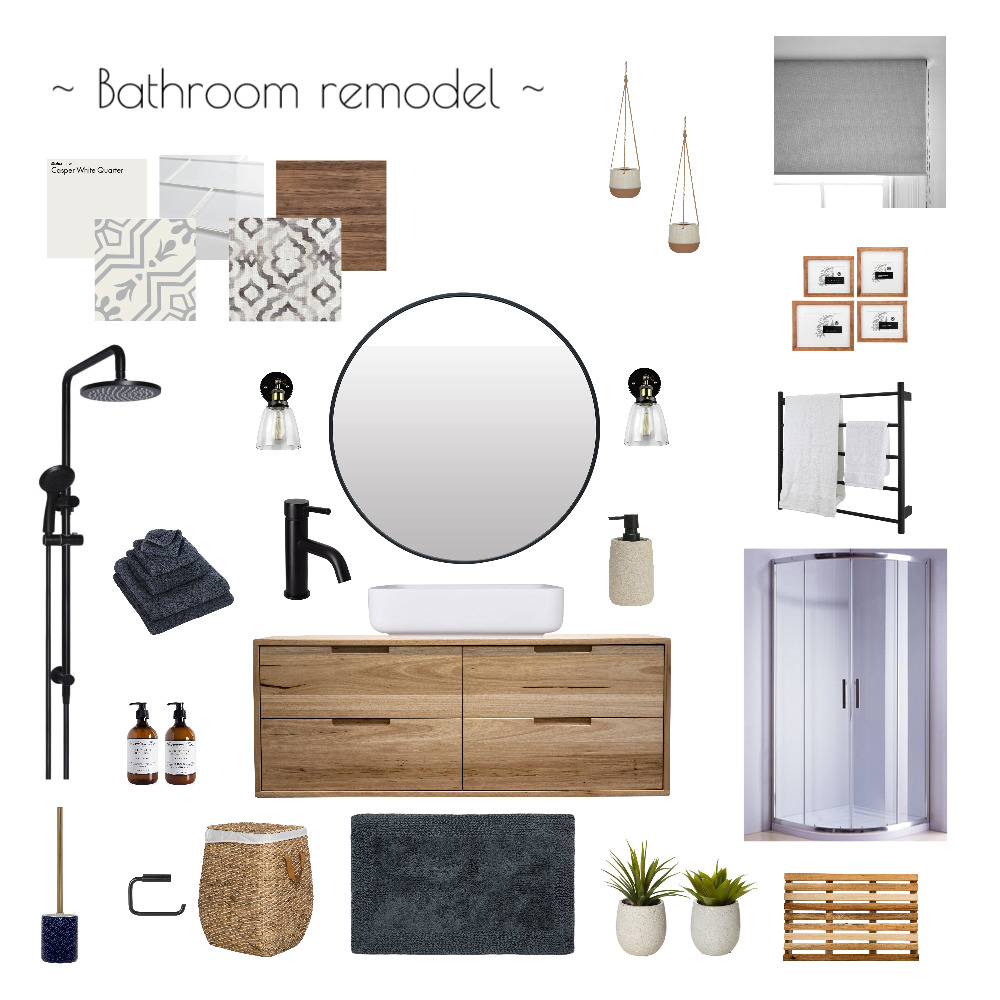 Bathroom remodel mod 9-2 Interior Design Mood Board by MfWestcoast on Style Sourcebook