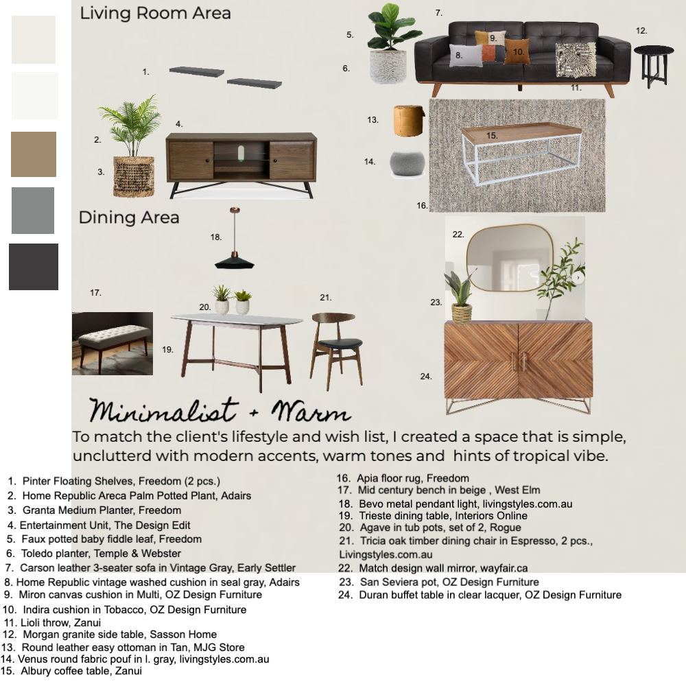bachpad Interior Design Mood Board by Liaconcertina on Style Sourcebook