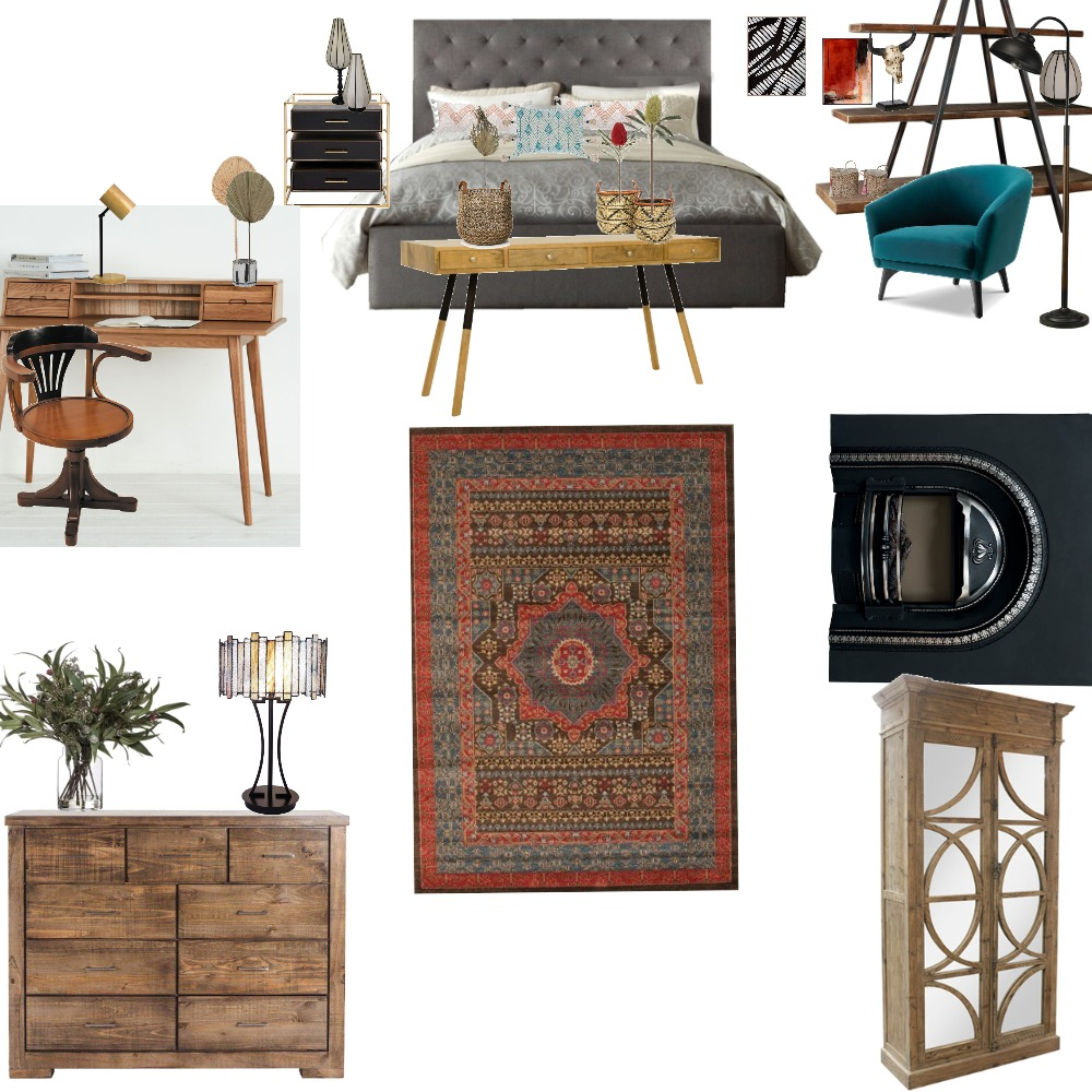 DC101 -AS1 Bedroom/ Study Mood B Interior Design Mood Board by Silvana on Style Sourcebook
