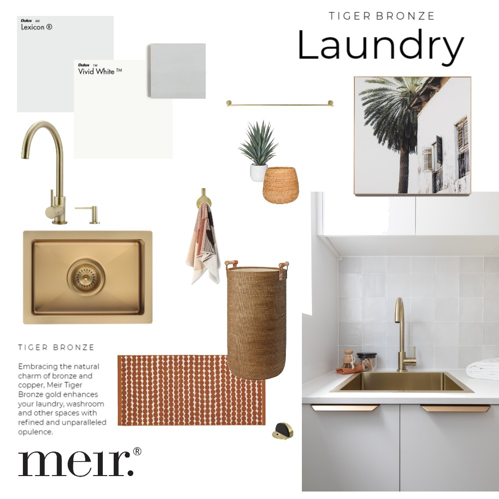 Meir | Tiger Bronze Laundry Interior Design Mood Board by Meir on Style Sourcebook