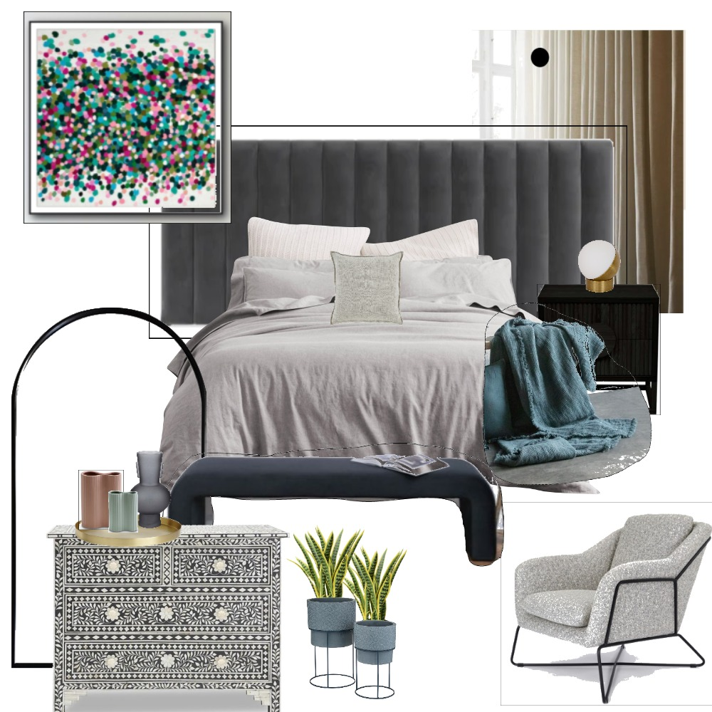 Stephanie bedroom Interior Design Mood Board by bettina_brent on Style Sourcebook