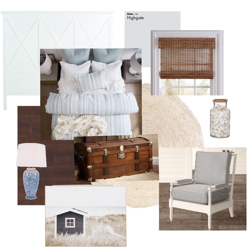 Coastal bedroom Interior Design Mood Board by Magpiedesigns on Style Sourcebook