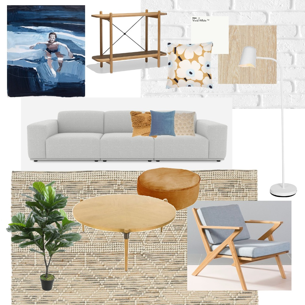 Burleigh Beach Retreat Lounge Interior Design Mood Board by hemko interiors on Style Sourcebook