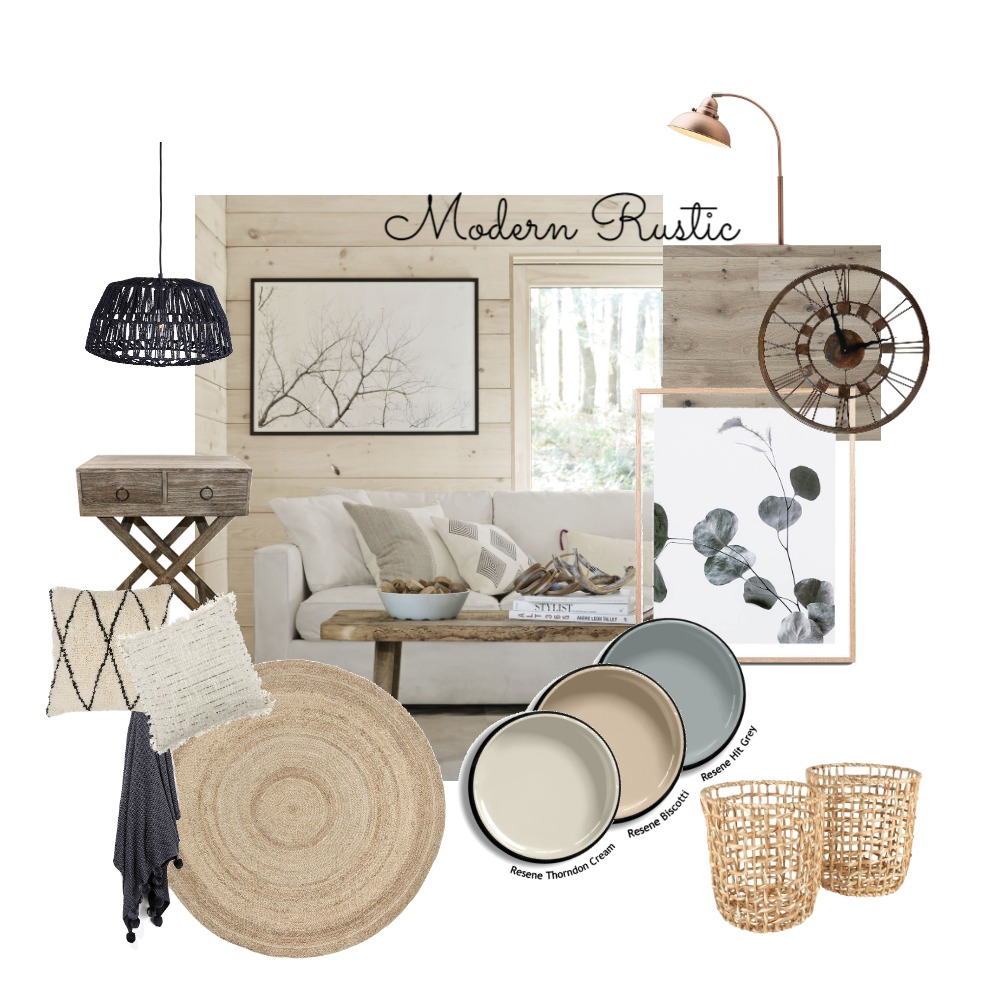 Modern Rustic Interior Design Mood Board by Walnut on Style Sourcebook
