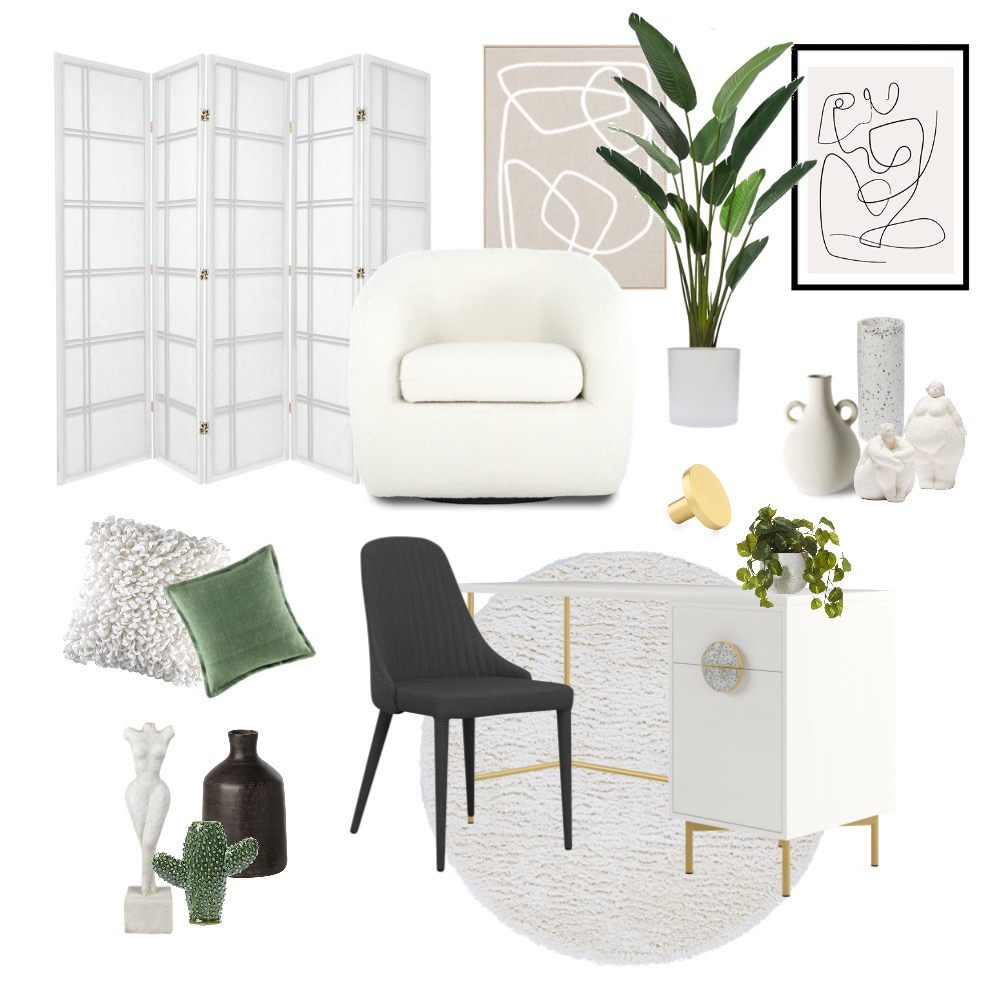 Home Office Interior Design Mood Board by caitlinrobertson on Style Sourcebook