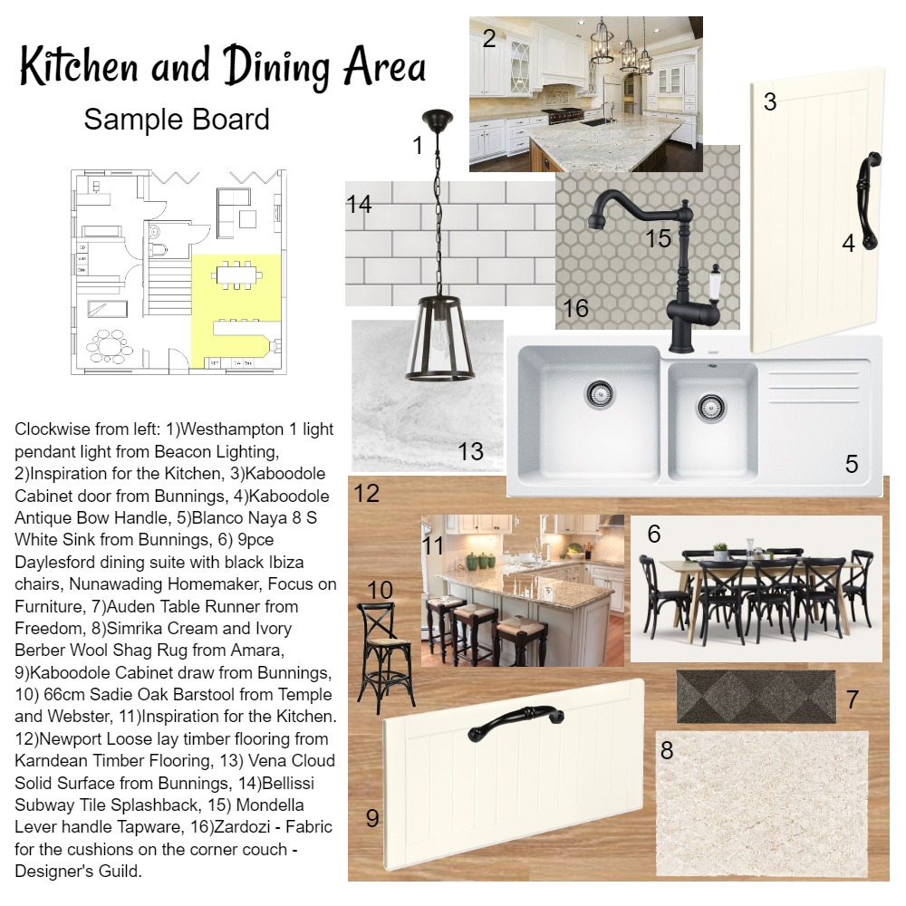 Kitchen and Dinning area Interior Design Mood Board by Michelle Baker on Style Sourcebook