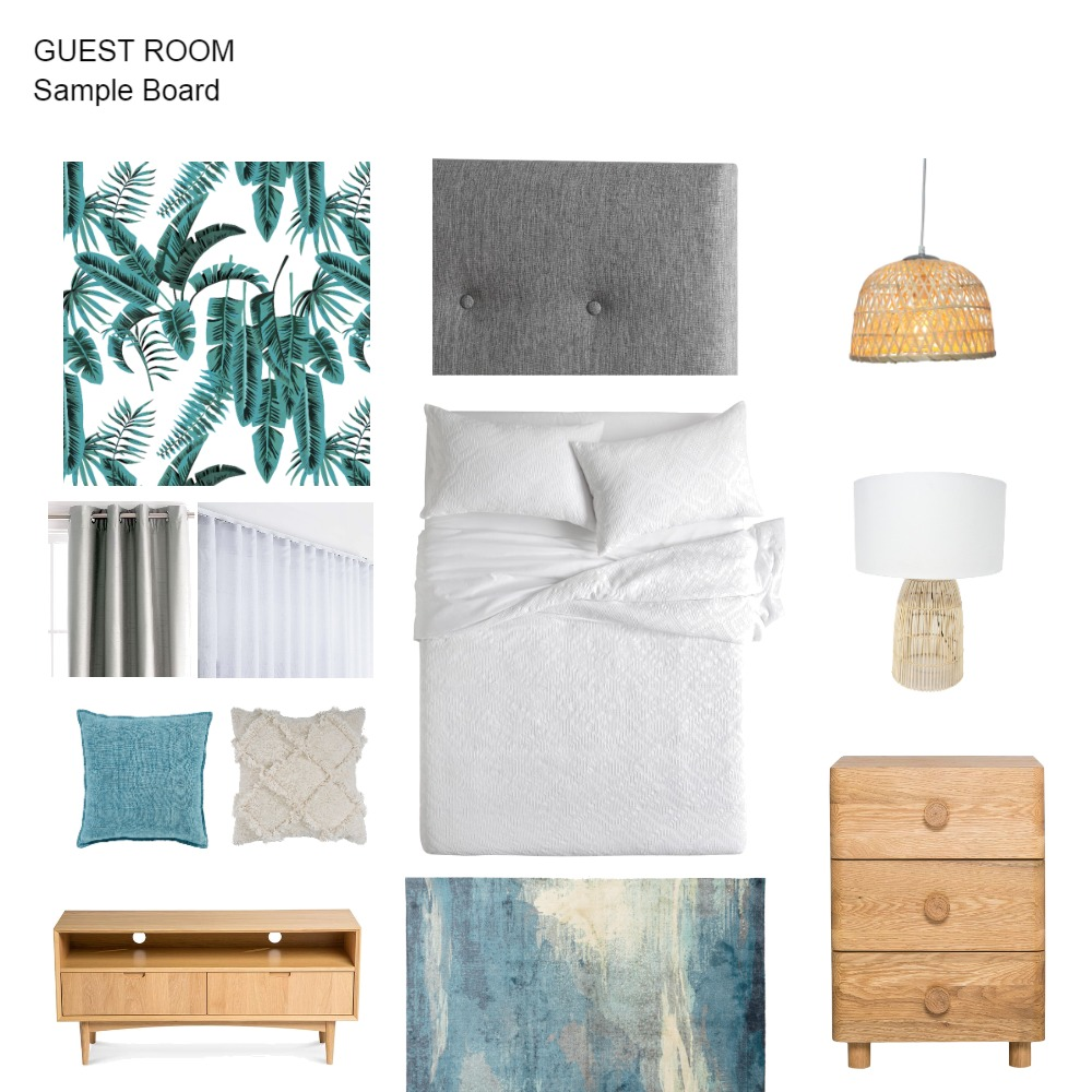 Guest Room Interior Design Mood Board by vingfaisalhome on Style Sourcebook