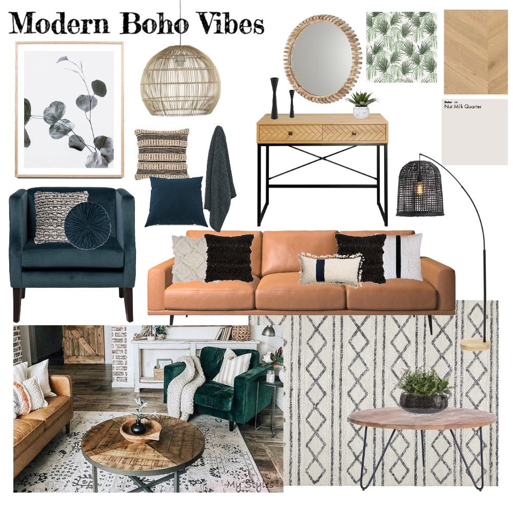 Modern Boho Vibes Interior Design Mood Board by jessgenitempo on Style Sourcebook